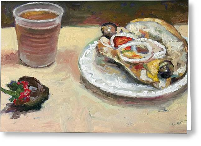 Festival Food Greeting Card by Larry Seiler