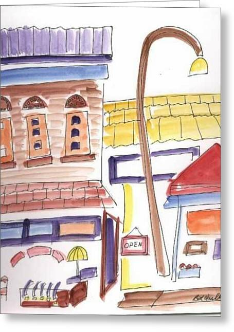 Festival In The City 4  Greeting Card by B L Qualls