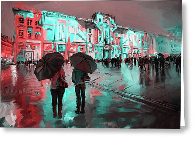 Festival Of Lights, Lyon 1 258 2 Greeting Card by Mawra Tahreem
