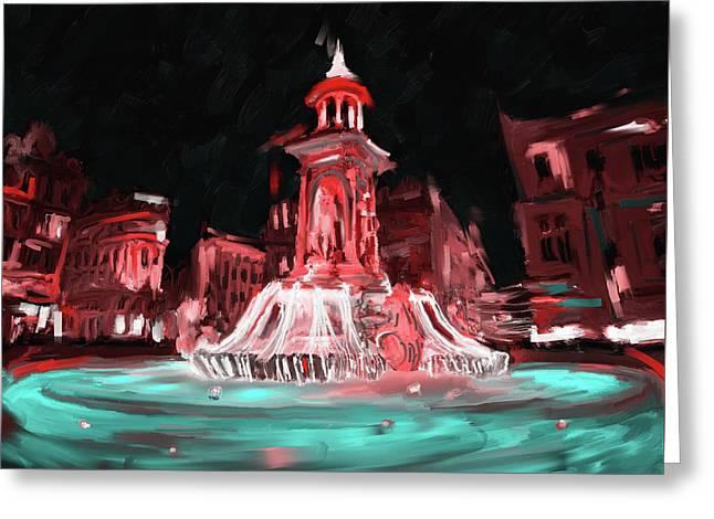 Festival Of Lights, Lyon 2 259 3 Greeting Card by Mawra Tahreem