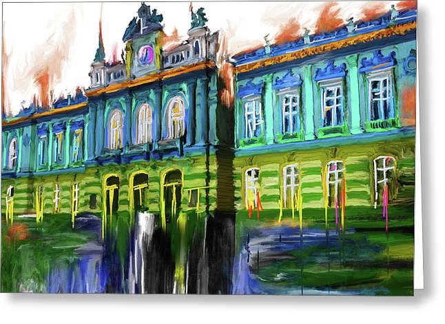 Festival Of Lights, Lyon 5 262 1 Greeting Card by Mawra Tahreem