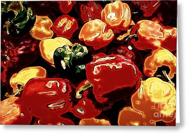 Festival Of Peppers Greeting Card