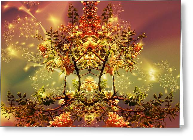 Festive Fractal Greeting Card
