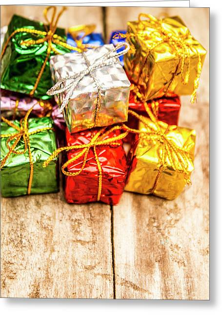 Festive Greeting Gifts Greeting Card by Jorgo Photography - Wall Art Gallery