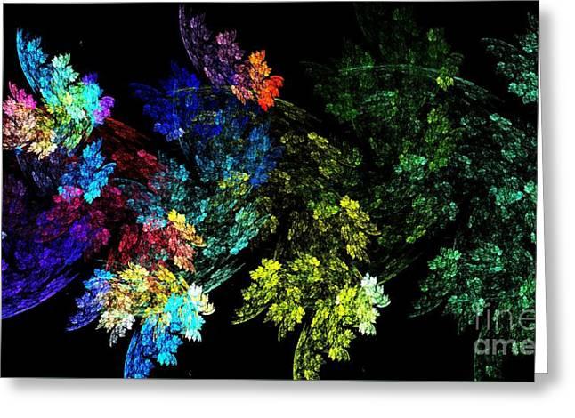 Festive Leaves Greeting Card by Kim Sy Ok