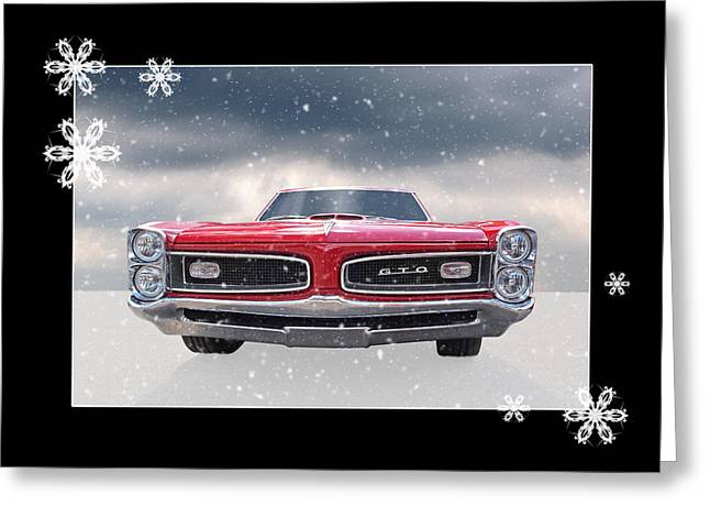 Festive Pontiac Gto Greeting Card
