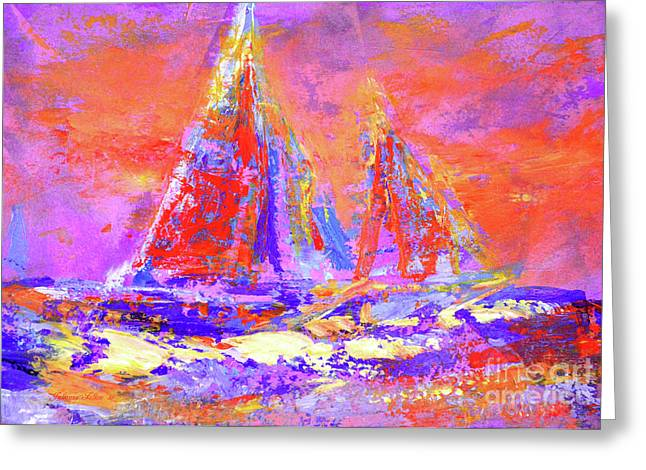 Festive Sailboats 11-28-16 Greeting Card