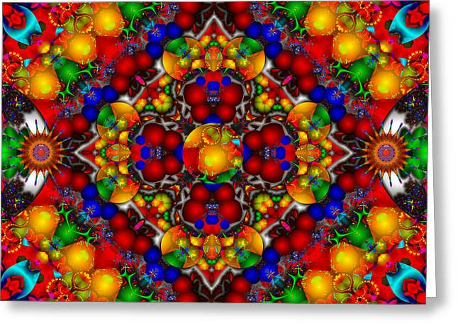 Greeting Card featuring the digital art Festivities by Robert Orinski