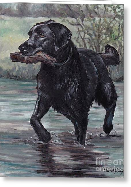 Fetch Greeting Card by Charlotte Yealey