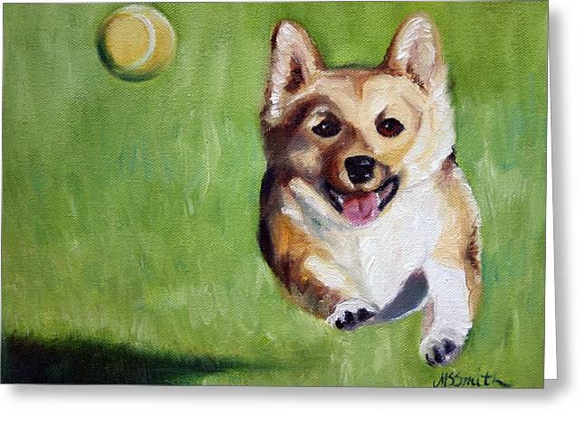 Fetch Greeting Card by Mary Sparrow