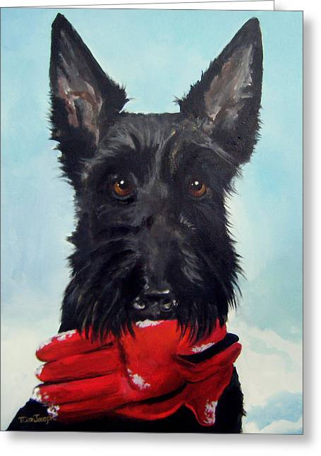 Fetch Greeting Card by Terry Cox Joseph