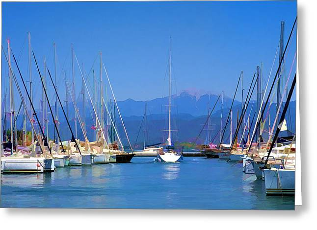 Fethiye Harbour Greeting Card