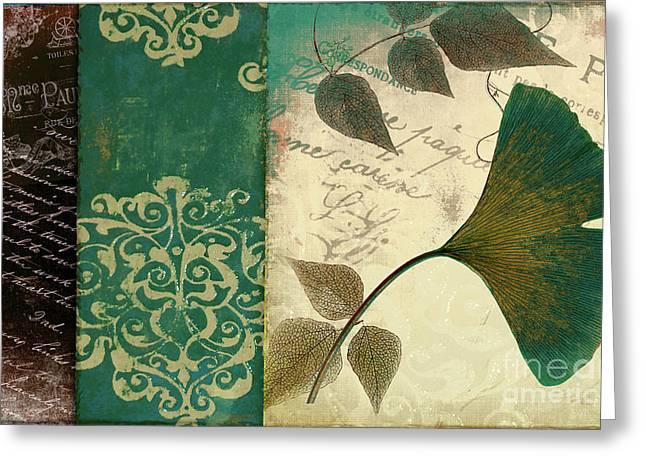 Feuilles Leaves Greeting Card
