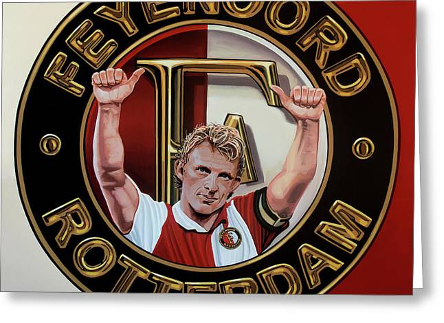 Feyenoord Rotterdam Painting Greeting Card