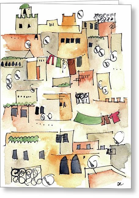 Fez Medina 2017 Greeting Card