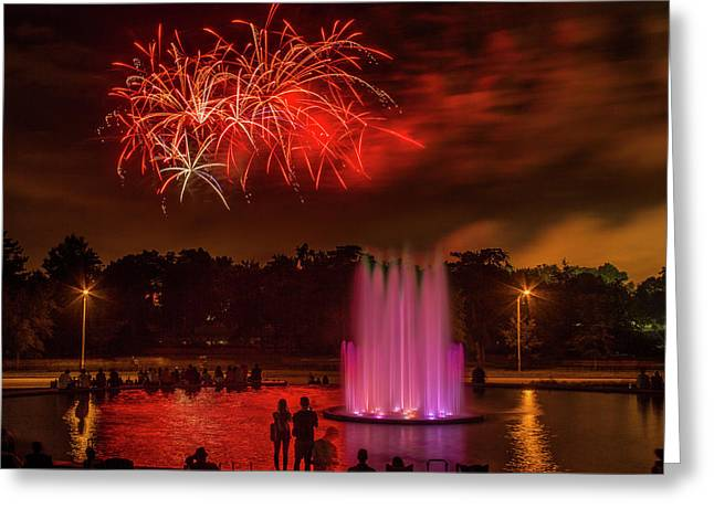 Fair St Louis 4th Of July Fireworks Greeting Card