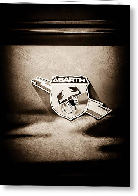 Fiat Abarth Emblem -ck1611s1 Greeting Card