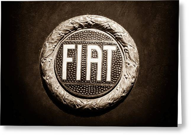 Fiat Emblem -1621s Greeting Card