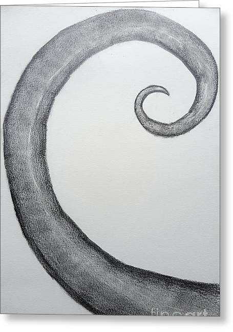 Fibonacci Spiral No.1 Greeting Card