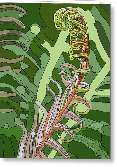 Fiddlehead Greeting Card