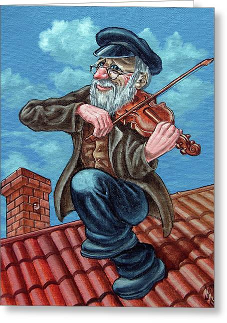 Fiddler On The Roof. Op2608 Greeting Card