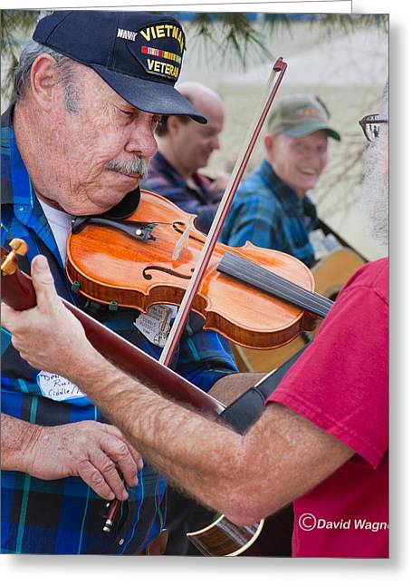 Fiddlers Contest Greeting Card by David Wagner