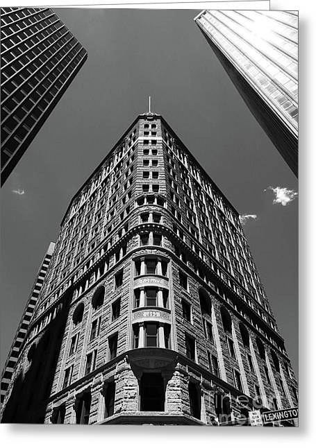 Fidelity Building In Black And White Baltimore Greeting Card