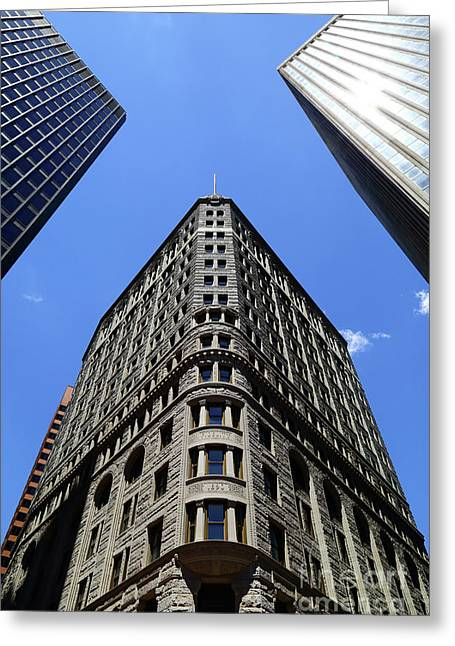 Fidelity Building In Color Baltimore Greeting Card