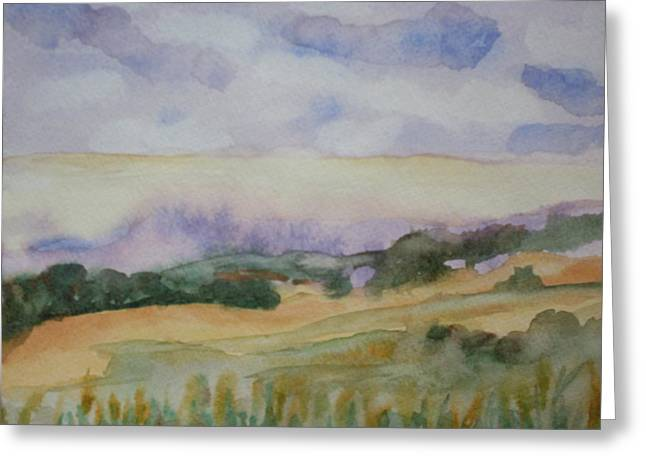 Field And Sky 1 Greeting Card by Warren Thompson