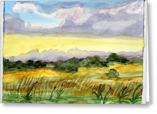 Field And Sky 2 Greeting Card