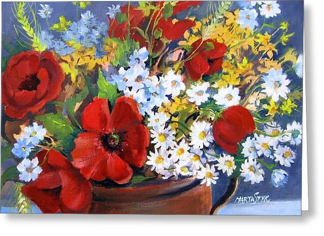 Field Bouquet Greeting Card by Marta Styk