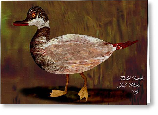 Field Duck Greeting Card by Jerry White