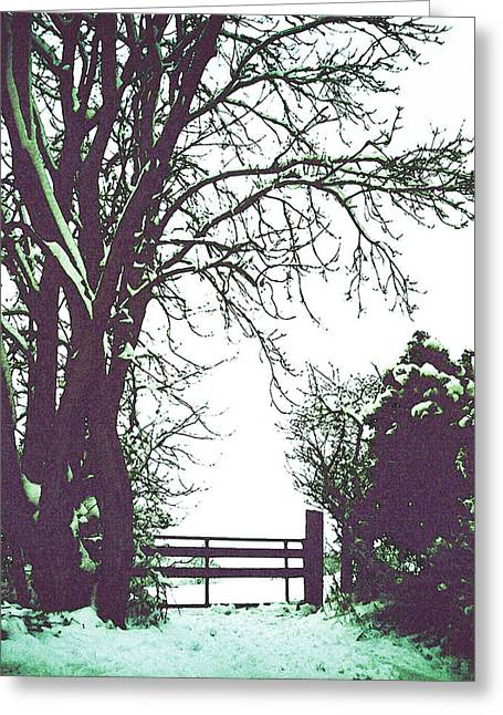 Field Gate Greeting Card