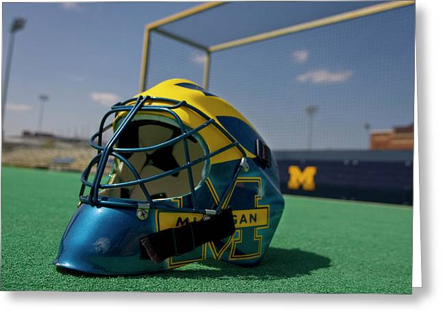 Field Hockey Helmet Greeting Card