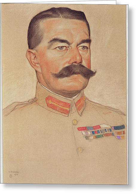 Field Marshal Lord Kitchener Of Khartoum Greeting Card by William Strang