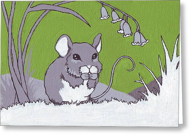 Field Mouse Greeting Card by Sarah Webb