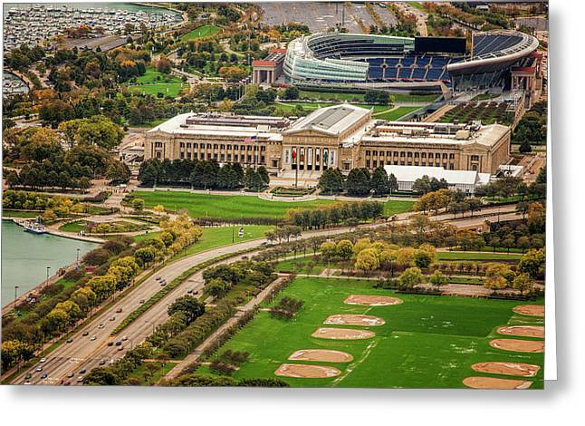 Field Museum And Soldier Field Greeting Card