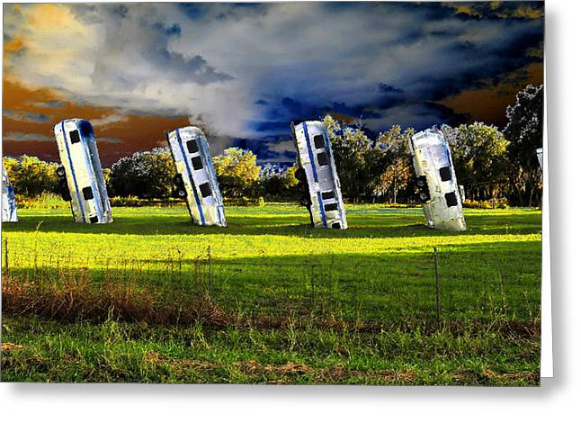 Field Of Airstreams Greeting Card