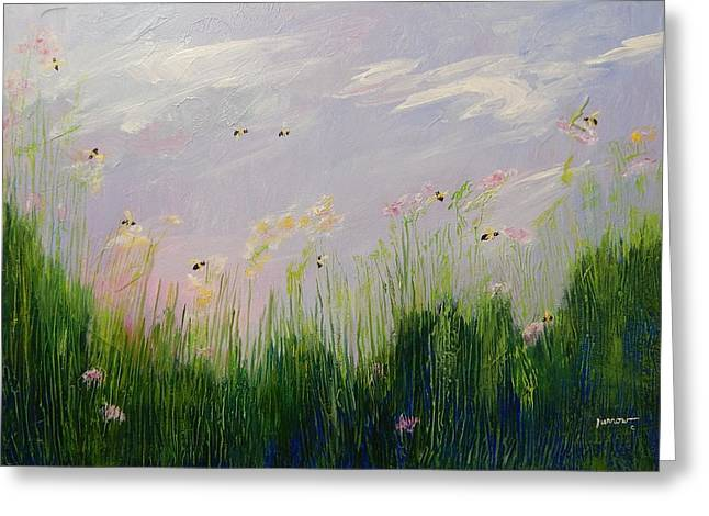 Field Of Bee's Greeting Card by Sue Furrow
