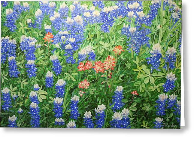 Field Of Blue Greeting Card