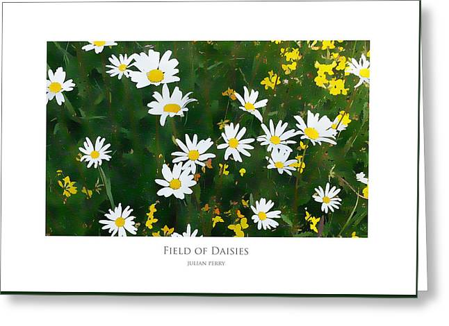 Field Of Daisies Greeting Card