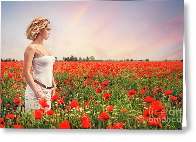 Field Of Dreams Greeting Card by Evelina Kremsdorf