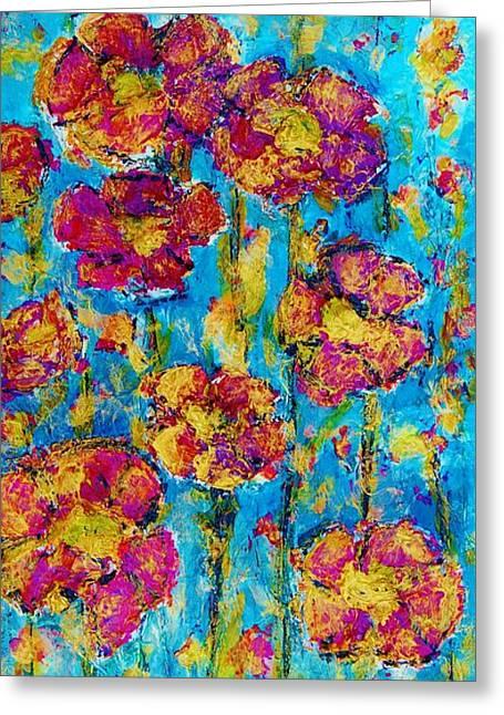 Field Of Dreams Greeting Card by Laura  Grisham