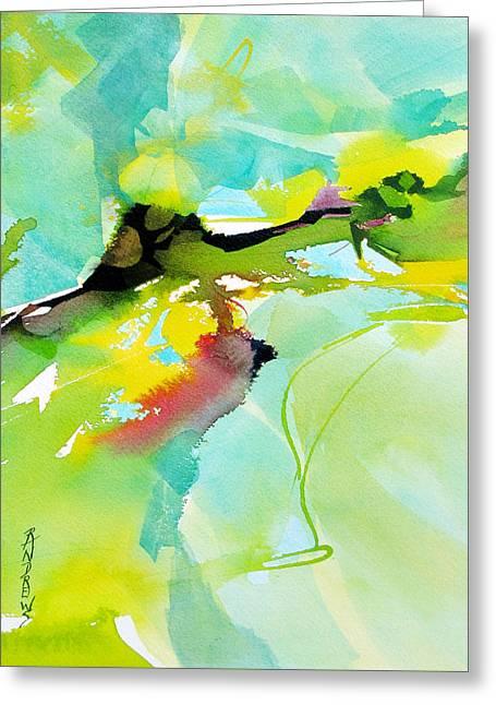 Field Of Dreams Greeting Card by Rae Andrews