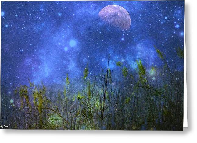 Field Of Fireflies Greeting Card by Molly Dean