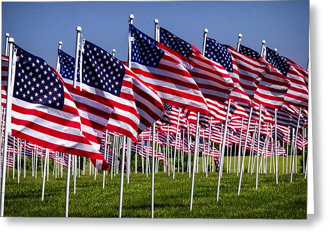 Field Of Flags For Heroes Greeting Card
