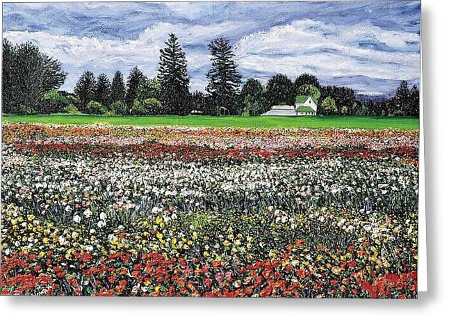 Field Of Flowers Greeting Card by Richard Nowak