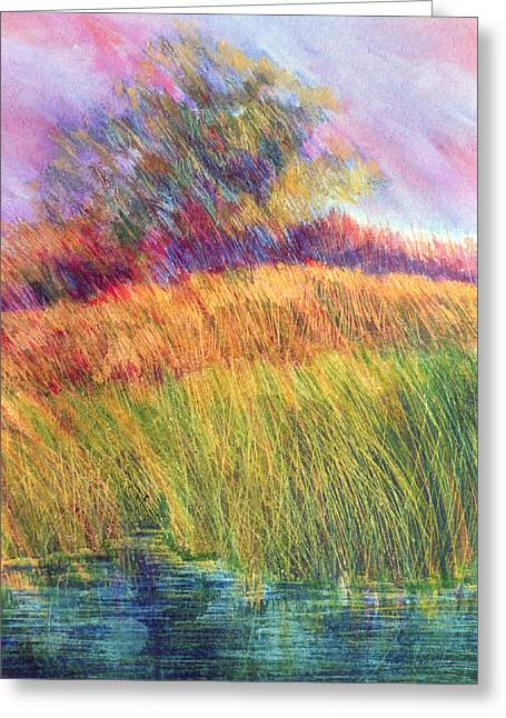 Bright Pastels Greeting Cards - Field of Grass Greeting Card by Linda Crockett