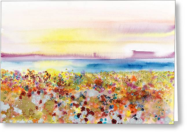 Field Of Joy Greeting Card by Tara Thelen - Printscapes