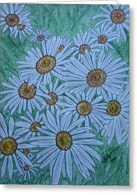 Field Of Wild Daisies Greeting Card by Kathy Marrs Chandler